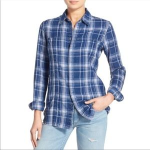 Hudson Jeans Blue Brit Plaid Shirt In Palisades